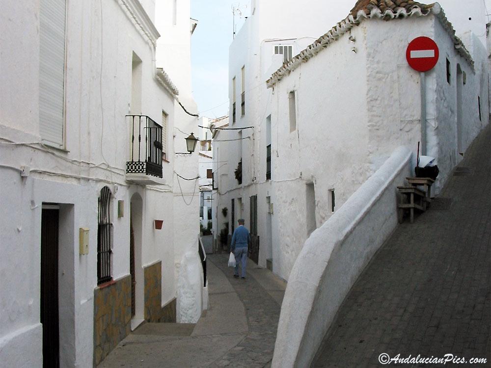Rues de Casares en Andalousie