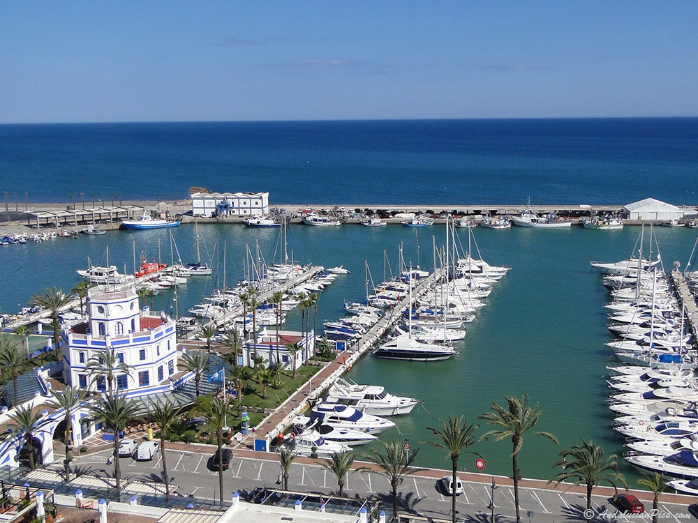 General view of the Port Estepona