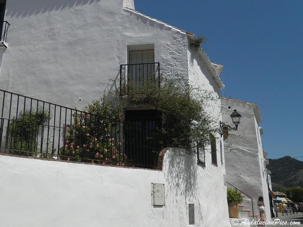 Mijas white dashed houses
