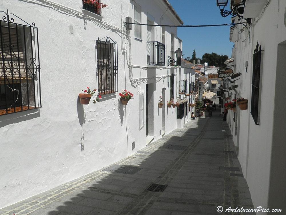 Mijas White Village narrow street