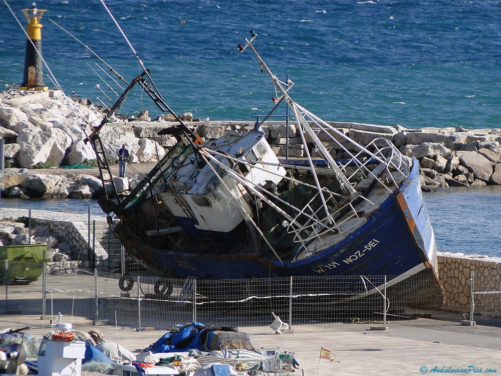 Marina Estepona old Boat