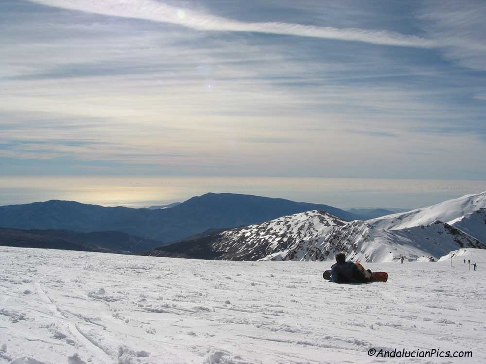 Sierra Nevado from the top sea views