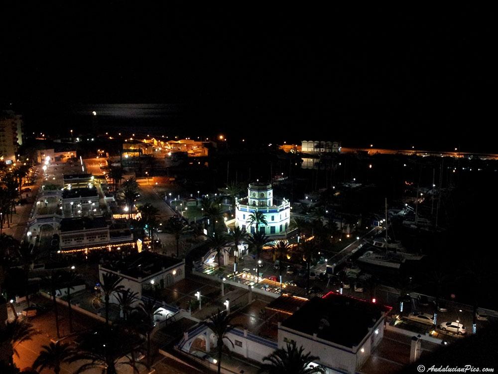 Estepona Marina at night