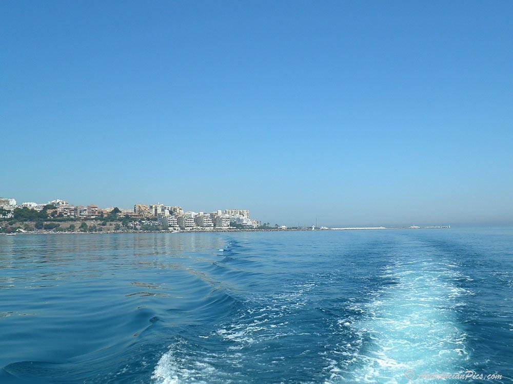 Estepona from the Mediterranean