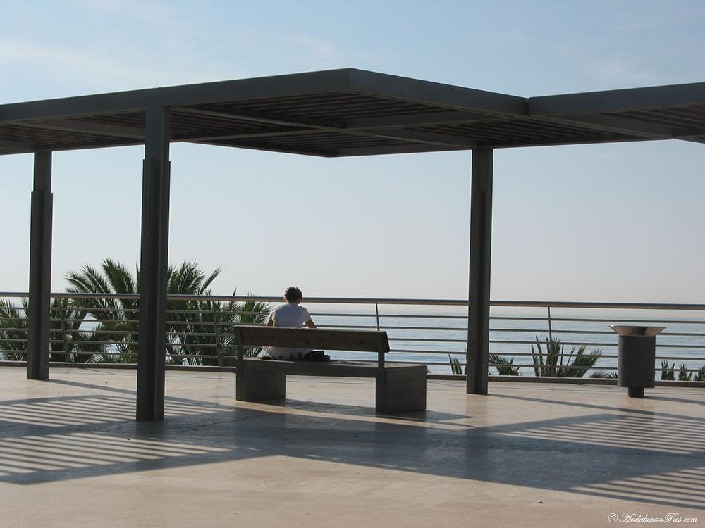 Marbella sea side promenade